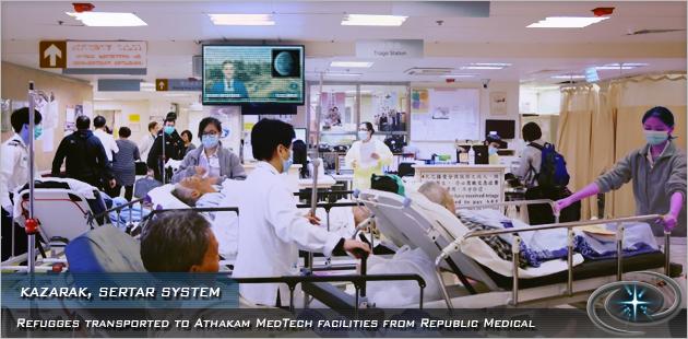 Refugees in Athakam MedTech hospital